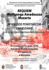 plakat prezentuje grafikę do wydarzenia artystycznego z okazji 75 rocznicy Powstania Warszawskiego.