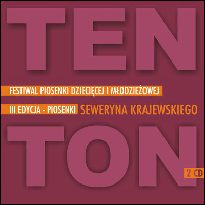 Grafika festiwalu piosenki dziecięcej i młodzieżowej Ten Ton - piosenki Seweryna Krajewskiego
