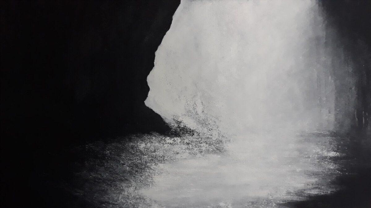 Cave. 150/100 cm. Olej na płótnie Karoliny Jarosławskiej