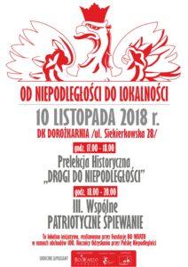 plakat o święcie niepodległości