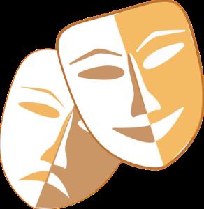zdjęcie przedstawia dwie maski teatralne.