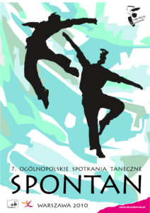 Zdjęcie przedstawia plakat festiwalu tanecznego Spontan