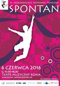 Zdjęcie przedstawia plakat festiwalu tańca - postać tańczącego chłopca