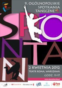 Zdjęcie przedstawia plakat festiwalu tańca Spontan.