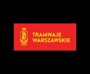 Zdjęcie przedstawia logotyp Tramwajów Warszawskich.