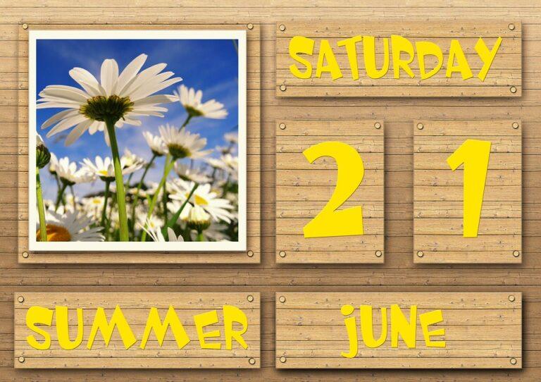 Zdjęcie przedstawia rodzaj drewnianego kalendarza: ułożonego z klocków. Z lewej strony jest obrazek z kwiatkami.