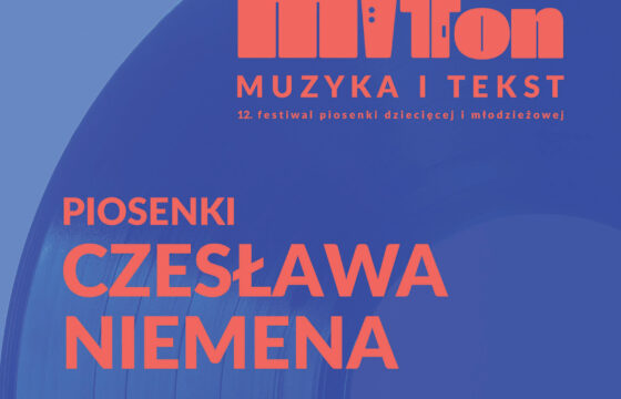 Zdjęcie przedstawia okładkę płyty Festiwalu Piosenki Dziecięcej i Młodzieżowej MIT TON - Piosenki Czesława Niemena