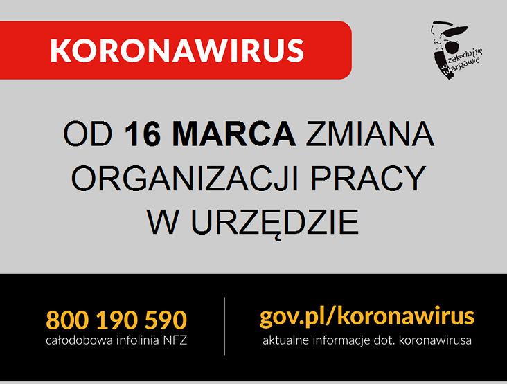 Zmiana organizacji pracy Urzędu Dzielnicy Mokotów