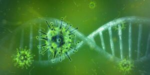 Zdjęcie przedstawia wirusa.