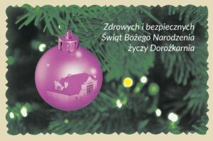 Kartka z życzeniami świątecznymi na Boże Narodzenie od Dorożkarni