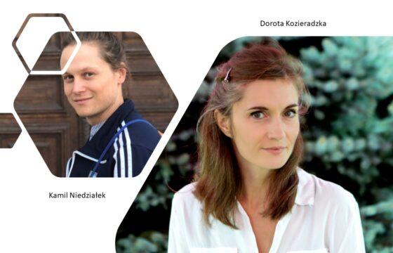 Zdjęcie - z lewej strony młody mężczyzna, z prawej młoda kobieta